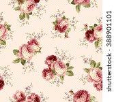 rose flower pattern  | Shutterstock .eps vector #388901101