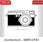 retro camera icon vector  | Shutterstock .eps vector #388911934