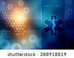 emergency ambulance medicine...   Shutterstock . vector #388918819