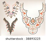 set of collar collection | Shutterstock .eps vector #38893225