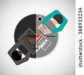 teamwork icon design  | Shutterstock .eps vector #388933234
