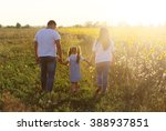 young family  father mother... | Shutterstock . vector #388937851