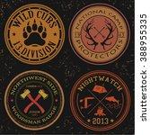 wild life badges elements set | Shutterstock .eps vector #388955335