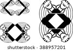 set of abstract graphic frames... | Shutterstock . vector #388957201