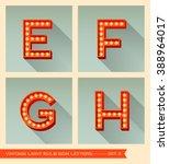 vintage light bulb sign letters ... | Shutterstock .eps vector #388964017