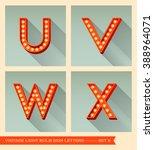 vintage light bulb sign letters ...   Shutterstock .eps vector #388964071