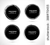 vector black strokes. grunge... | Shutterstock .eps vector #388970455