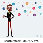 speech presentation of business ... | Shutterstock .eps vector #388977595
