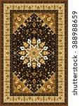 carpet border frame pattern  | Shutterstock . vector #388988659