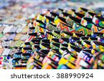 various colorful bracelets on... | Shutterstock . vector #388990924