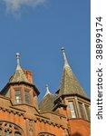 old spired building in chester  ... | Shutterstock . vector #38899174