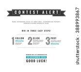 social media contest vector...   Shutterstock .eps vector #388993867