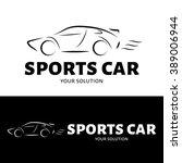 vector logo car. brand logo in... | Shutterstock .eps vector #389006944
