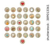 health and medicine icons set   Shutterstock .eps vector #389013361