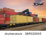 industrial container cargo and... | Shutterstock . vector #389020045