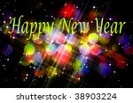 new year greetings with... | Shutterstock . vector #38903224