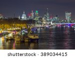 skyline of london by night | Shutterstock . vector #389034415