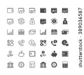 financial management thin icons ... | Shutterstock .eps vector #389036587