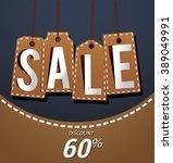 big sale retro poster paper... | Shutterstock .eps vector #389049991