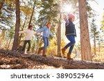children having fun and... | Shutterstock . vector #389052964