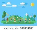 flat design  illustration of... | Shutterstock .eps vector #389053105