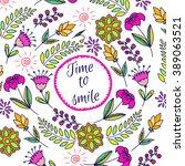 spring vector card template.... | Shutterstock .eps vector #389063521