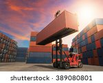 loading and unloading of... | Shutterstock . vector #389080801