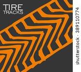 tire tracks background.vector...   Shutterstock .eps vector #389110774
