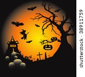halloween illustration | Shutterstock . vector #38911759