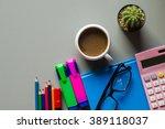 office supplies   business... | Shutterstock . vector #389118037