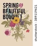 victorian bouquet. spring... | Shutterstock .eps vector #389119621