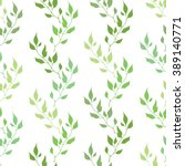 seamless green pattern with... | Shutterstock .eps vector #389140771