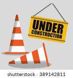 under construction design  | Shutterstock .eps vector #389142811