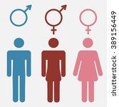 set of gender symbols with... | Shutterstock . vector #389156449