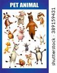 3d rendered illustration of pet ... | Shutterstock . vector #389159431