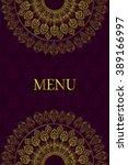 mandala pattern design. vintage ... | Shutterstock .eps vector #389166997
