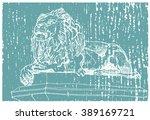 scene street illustration. hand ... | Shutterstock .eps vector #389169721