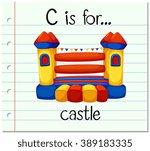 flashcard letter c is for... | Shutterstock .eps vector #389183335