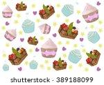 texture of cakes | Shutterstock . vector #389188099