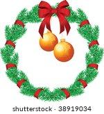 christmas chaplet | Shutterstock .eps vector #38919034