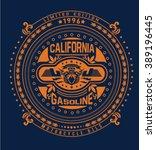 motor gasoline typography  t... | Shutterstock .eps vector #389196445