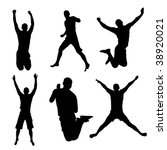 Set Of Jumping People