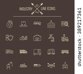 industry icon set. | Shutterstock .eps vector #389217361