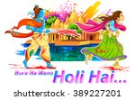 llustration of radha and lord... | Shutterstock .eps vector #389227201