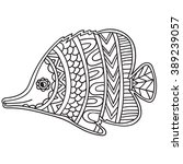 coloring book page for adults...   Shutterstock .eps vector #389239057