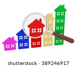 3d render of a group of houses... | Shutterstock . vector #389246917
