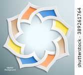 abstract 3d round infographic... | Shutterstock .eps vector #389261764