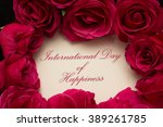 international day of happiness | Shutterstock . vector #389261785
