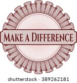 make a difference inside money... | Shutterstock .eps vector #389262181
