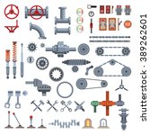 parts of machinery | Shutterstock .eps vector #389262601